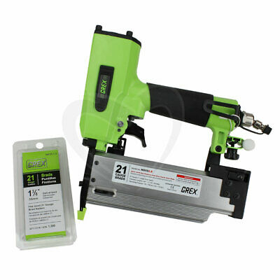 Grex GH850LX 2-Inch 21 Gauge Brad Nailer with Edge Guide & Free Brads