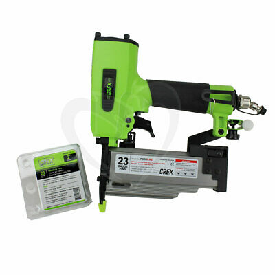 Grex GH650LXE 2-Inch 23 Gauge Headless Pinner with Edge Guide & Free Pins