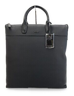Tumi Landon Whitman Matte Black Leather Business Professional Luxury Tote Bag