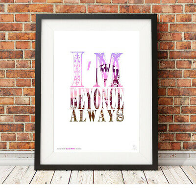 MICHAEL SCOTT ❤ The Office ❤ Beyonce quote poster art LIMITED EDITION PRINT #22