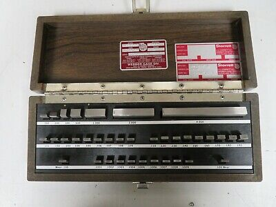 Starrett Webber RS36A1 36 piece, Rect., Steel, English Gage Block Set - NS29