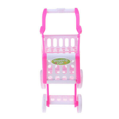 Dolls Pretend Toys Supermarket Shopping Cart for 18inch Doll Furniture Accs