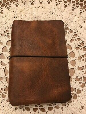 Chic Sparrow Waypoint Rustic Brown Leather Passport Travelers Notebook