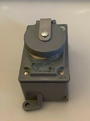 Thomas & Betts Russellstoll Receptacle 3754 3P 4W 30A 250V; 20A 600V