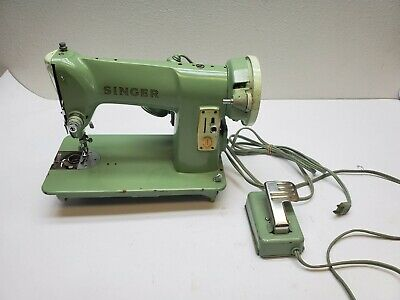 Vintage Singer 185K Heavy Duty Steel Sewing Machine - Read