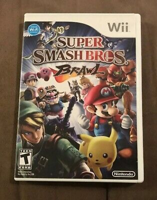 Super Smash Bros Brawl Nintendo Wii ~ Complete! ~ Works Great! ~ Fast Shipping!