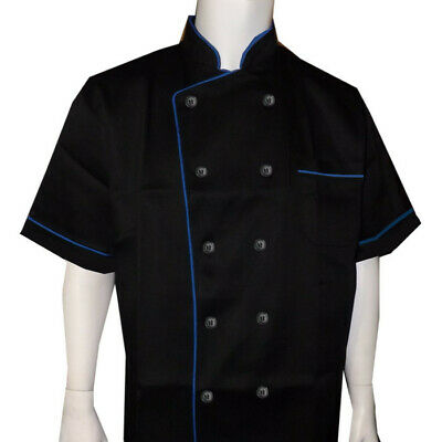 Men Women Chef Coat Restaurant Uniform Short Sleeve Chef Coat Kitchen Chef Coat