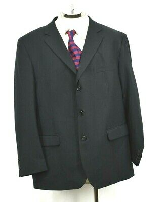 Kilburn & Fitch Men's 48R/42W Black Professional 2 Piece Suit Jacket & Pant Set