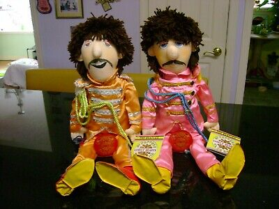 Vintage 1988 The Beatles Sgt. Peppers Lonely Hearts Club Band Dolls Set of 2