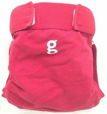 Gdiapers Medium Good Fortune Red Gpants & Pouch Euc