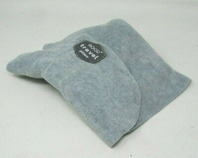 AOOU Travel Pillow Portable Soft Neck Support , Machine Washable, Grey