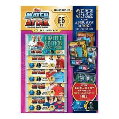 Match Attax Trading Card Multi Pack Season 2019 / 20  ~ 35 Cards & Limited Card