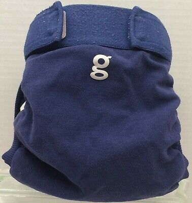 "Gdiapers Medium Galley Blue ""Navy"" Gpants & Pouch Vgc"