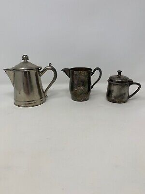 Vintage Silver Plated Pitcher Lot Of (3)