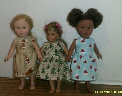 """6//6.5/"""" Doll Clothes-fit Mini American Girl My Life-Nightgown-Lt Blue Candy Cane"""