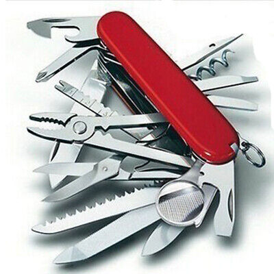 Red Pocket Army Knife Folding Multi-Use Tool Camping Survival 30-use Swiss USA