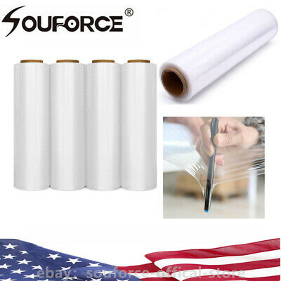 "18""x1500FT 80 Gauge 4 Roll Pallet Wrap Shrink Film Stretch Film Hand Shrink Wrap"