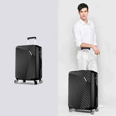 Hard Shell Suitcase TSA Lock Hand Travel Luggage 4 Wheel Trolley Case 20'' Black