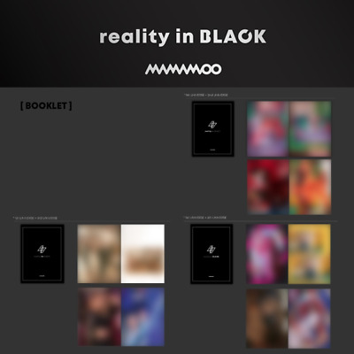 MAMAMOO - 2nd ALBUM REALITY IN BLACK BOOKLET