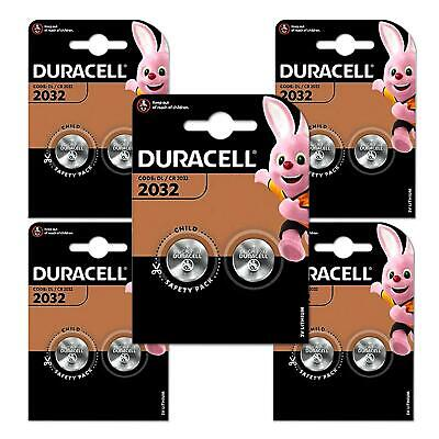 10 Duracell CR2032 3V Lithium Coin Cell Watch Batteries DL2032 BR2032 SB-T15