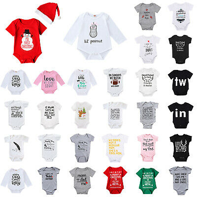 Newborn Infant Baby Boy Girl Christmas Romper Bodysuit Jumpsuit Clothes Outfit