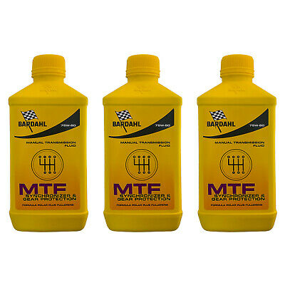 3Lt Aceite Coche Bardahl Bardhal Mtf 75W80 GL4 Transmisiones Manuales
