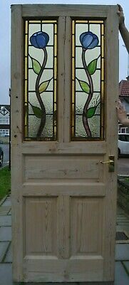 686 x 1940 x 33mmleaded light stained glass internal door R998b DELIVERY OPTION