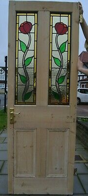 745 x 1965 x 43mm leaded light stained glass door R998a. DELIVERY OPTION
