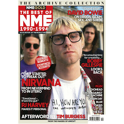 Nme Gold Magazine The Best Of Nme 1990 -1994 ~ Nirvana ~ Pj Harvey ~ Bowie ~ New