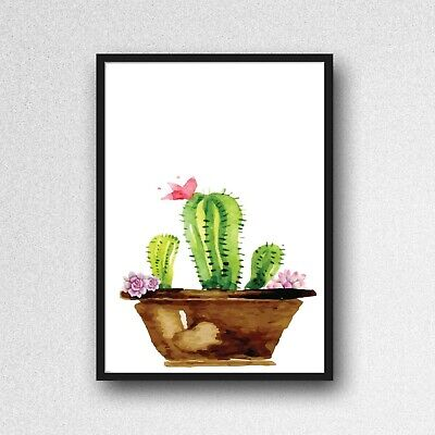 cactus print PICTURE botanical plant A4 unframed wall art poster gloss 24