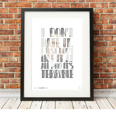 MICHAEL SCOTT hate quote ❤ The Office US ❤ poster art LIMITED EDITION PRINT #38