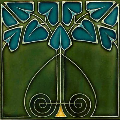 Art Nouveau Reproduction Decorative Ceramic tile 163