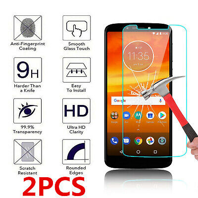 2-Pack For Motorola Moto E6 G6 G7 Play Force X4 Tempered Glass Screen Protector