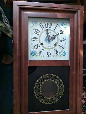 Alaron Mechanical 31-Day-Regulator Pendulum Wind Wall Clock Works Chime Wood