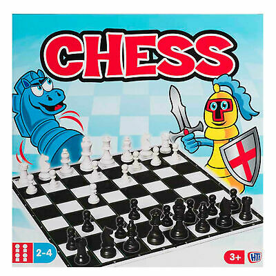 Traditional Classic Full Size Family Childrens Kids Board Chess Game Boardgames