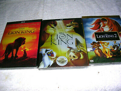 The Lion King (DVD, 2019) Live Action Movie Brand New Free Shipping! + LK 1 & 2