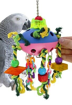 1682 Spaceship bird toy cage toys cages conure parrot african grey amazon macaw
