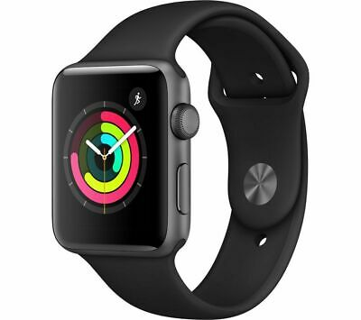 New Apple Watch Space Grey (Series 3) 42Mm With Black Sport Band - Collection
