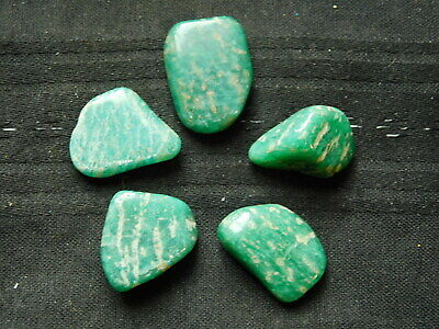 Russia Polished Crystals 20-30mm Tumbled Chakras Courage Truth x2 Amazonite