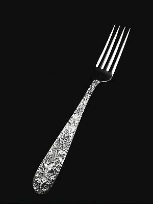"🍴 S. Kirk and Son Inc. Sterling Silver Repousse True Dinner Fork -7 3/4"" 👍"