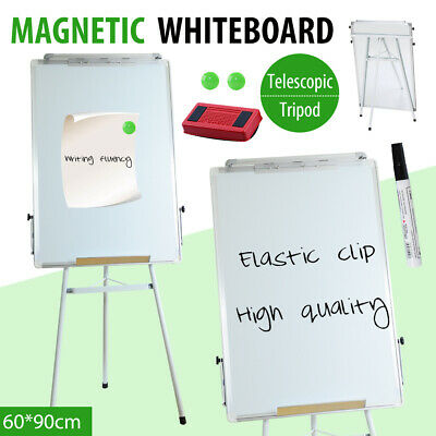 60cmx90cm Large Magnetic Whiteboard Office Board Markers Eraser Button Stand NEW