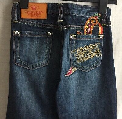 CHRISTIAN AUDIGIER DESIGNER Kids Denim JEANS......AGE 8