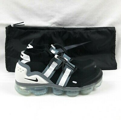 Nike Air VaporMax Flyknit Utility Running Shoes Men's Sz 10 Black AH6834-003