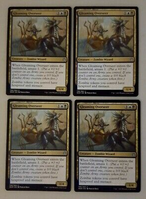 198//264 NM//M War of the Spark 4 X Gleaming Overseer MTG Uncommon
