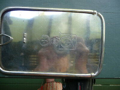 Antique German silver  gentlemans shaving mirror from a travelling set.