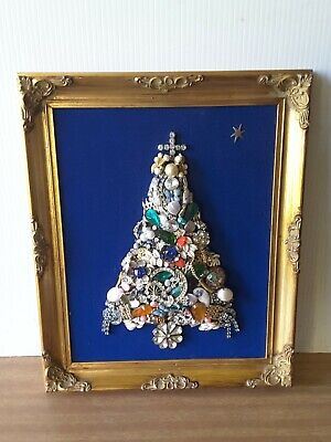 Wall Picture Jewelry Craft Christmas Tree