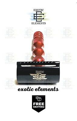 Safety Razor - Stainless Double Edge Shaving Razor - Black And Red - Free Blades