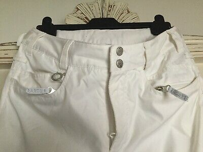 Brilliant White Womens 'Roxy' Ski Trousers  - Size Small.