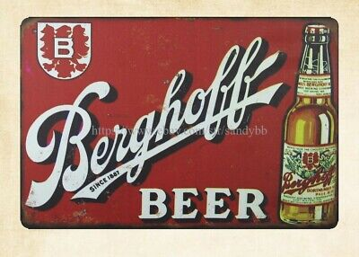 TIN SIGN Berghoff Beer Bottle Metal Décor Wall Art Store Shop Bar Pub A242
