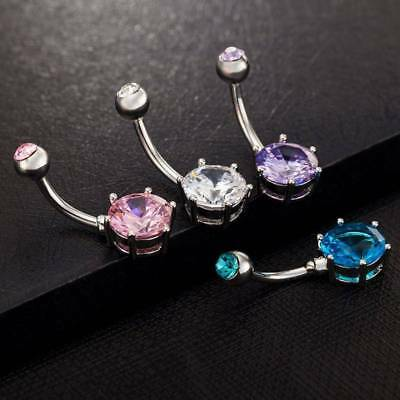 Fashion Multicolor Crystal Rhinestone Belly Button Rings Body Piercing Jewelry d